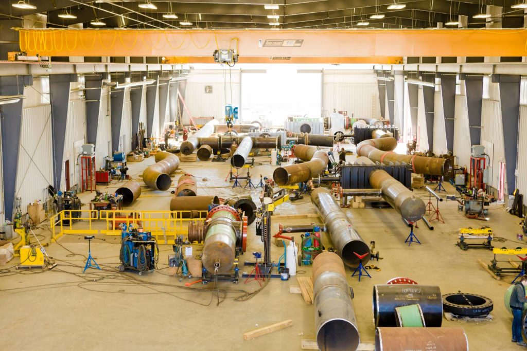 State of the Art Facilities & Space Academy Fabricators - Industrial Pipeline, Pipespool, & Structural Fabrication - Alberta, Canada 1